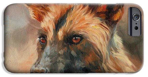 David iPhone Cases - African Wild Dog iPhone Case by David Stribbling