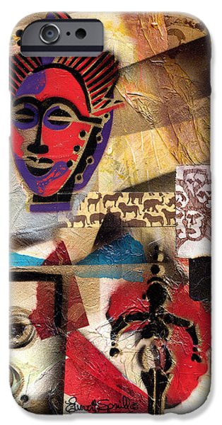 Afro Aesthetic b iPhone Case by Everett Spruill
