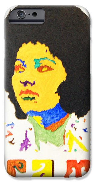 Afro Pam Grier iPhone Case by Stormm Bradshaw