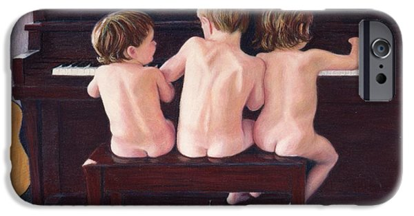 Piano Pastels iPhone Cases - After Bath Boogie iPhone Case by Kay Ridge
