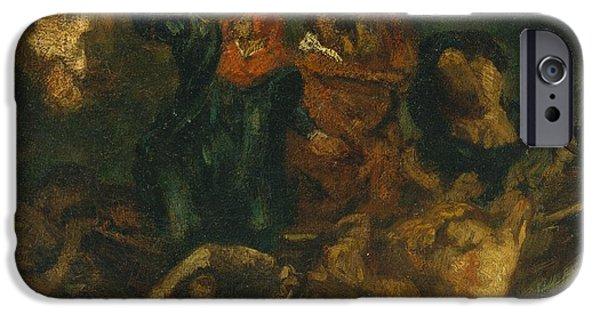 Delacroix iPhone Cases - after Delacroixs Bark of Dante iPhone Case by Celestial Images