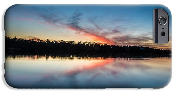 Lewiston iPhone Cases - After dusk iPhone Case by Chuck Alaimo