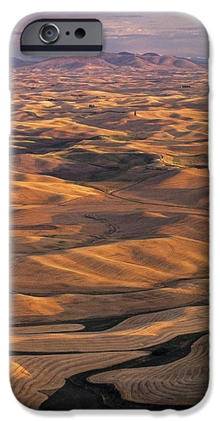 Contour Plowing iPhone Cases - After Harvest from Steptoe Butte iPhone Case by Latah Trail Foundation