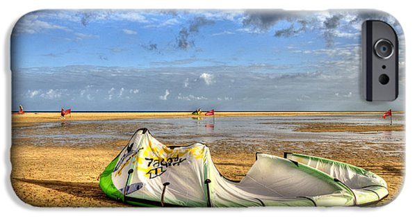 Kite Boarding iPhone Cases - After Kiteboarding Session iPhone Case by Julis Simo