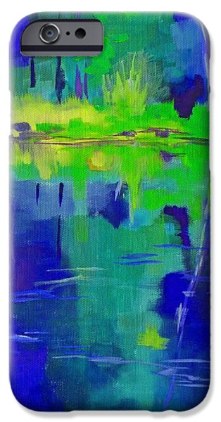 Business Paintings iPhone Cases - After Midnight iPhone Case by Nancy Merkle