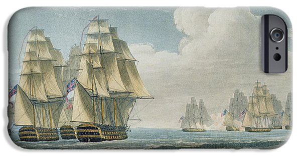Navy iPhone Cases - After the Battle of Trafalgar iPhone Case by Thomas Whitcombe