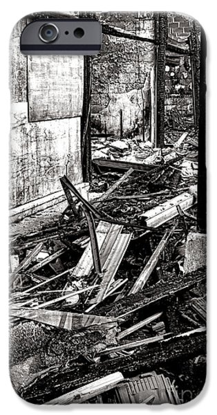 Remnant iPhone Cases - After the Fire iPhone Case by Olivier Le Queinec