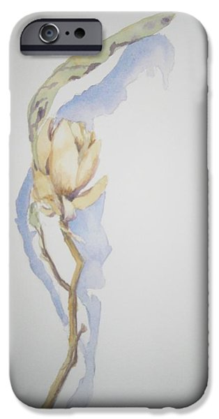 Pen And Ink iPhone Cases - After the Frost III iPhone Case by Maria Hunt