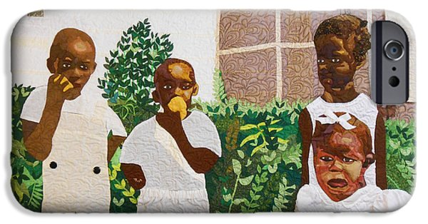 African-americans Tapestries - Textiles iPhone Cases - After The Funeral-1943 iPhone Case by Aisha Lumumba