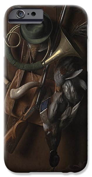 Object Paintings iPhone Cases - After the Hunt iPhone Case by William Michael Harnett