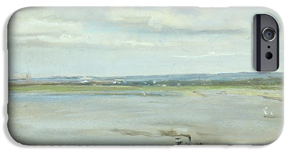 On Paper Paintings iPhone Cases - After the Rain iPhone Case by Max Liebermann