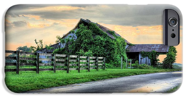 Maryland Barn Photographs iPhone Cases - After the Rains iPhone Case by JC Findley