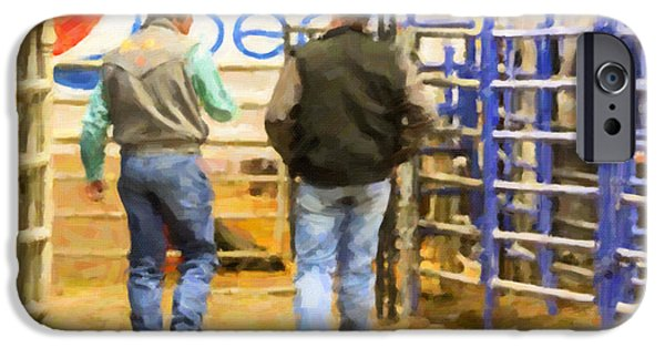Dirty iPhone Cases - After The Rodeo iPhone Case by Janice Rae Pariza