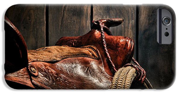 Saddle iPhone Cases - After the Round Up iPhone Case by Olivier Le Queinec