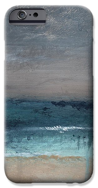 After The Storm- Abstract Beach Landscape iPhone Case by Linda Woods