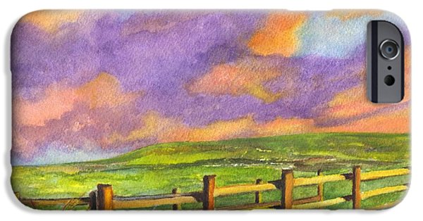 Field. Cloud Drawings iPhone Cases - After The Storm iPhone Case by Carol Wisniewski