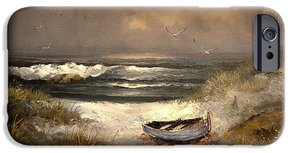 Beach Landscape iPhone Cases - After The Storm Passed iPhone Case by Sandi OReilly