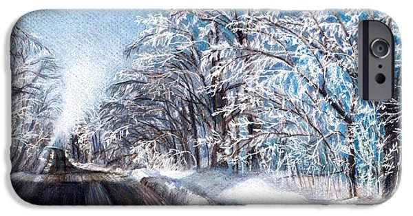 Wintertime Drawings iPhone Cases - After the Storm iPhone Case by Shana Rowe