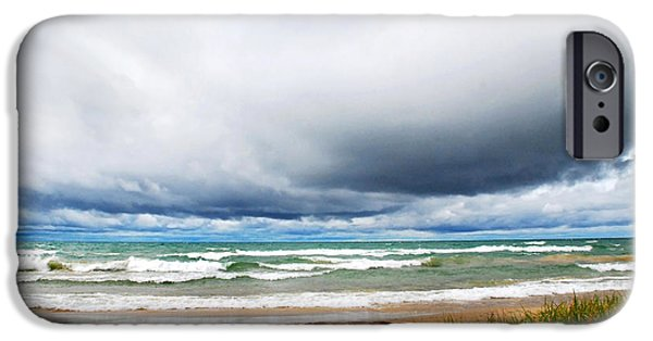 Beach Landscape iPhone Cases - After The Storm Waterscape iPhone Case by Christina Rollo