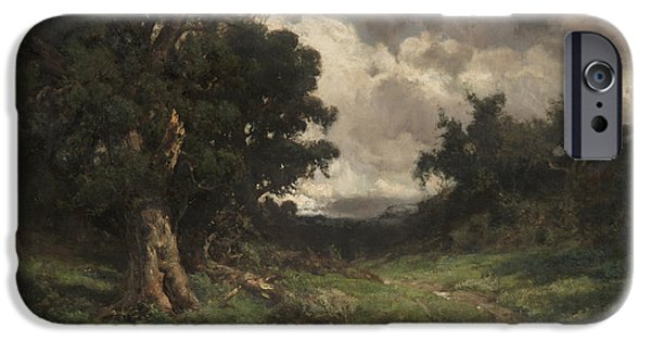 Wet On Wet Paintings iPhone Cases - After the Storm iPhone Case by William Keith
