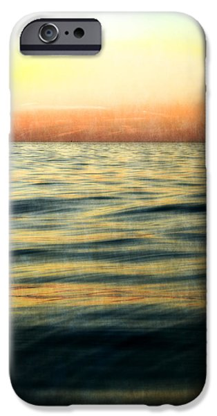Sunset At The Lake iPhone Cases - Afterglow iPhone Case by Michelle Calkins