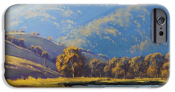 Rural iPhone Cases - Afternnon Light Lithgow iPhone Case by Graham Gercken