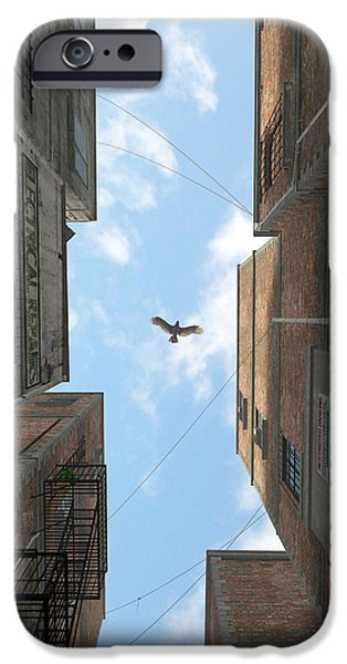 Mechanics Digital Art iPhone Cases - Afternoon Alley iPhone Case by Cynthia Decker