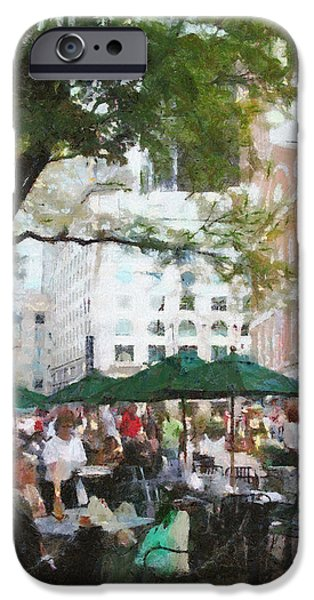 Eating iPhone Cases - Afternoon at Faneuil Hall iPhone Case by Jeff Kolker