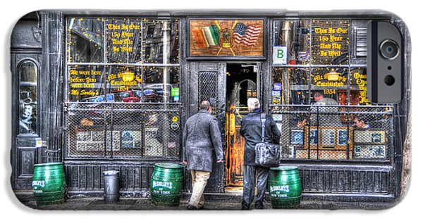 East Village iPhone Cases - Afternoon at McSorleys iPhone Case by Randy Aveille