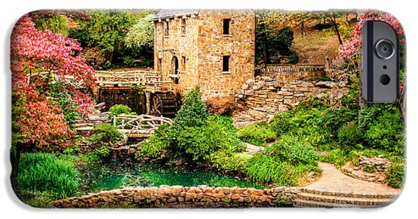 Grist Mill iPhone Cases - Afternoon at The Old Mill - Arkansas iPhone Case by Gregory Ballos
