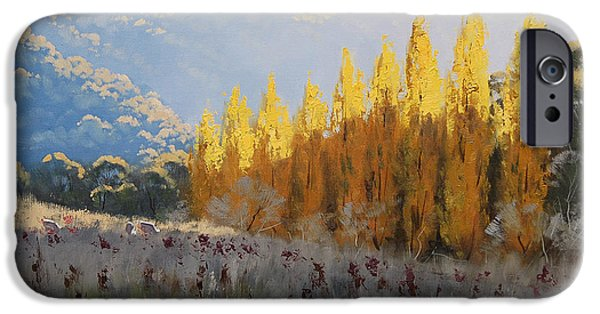 Fall iPhone Cases - Afternoon Autumn Light iPhone Case by Graham Gercken