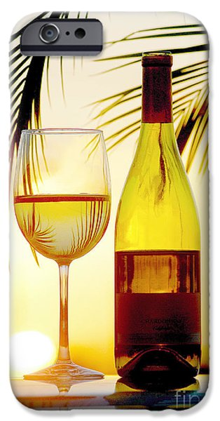 Wine Bottles Mixed Media iPhone Cases - Afternoon Delight iPhone Case by Jon Neidert