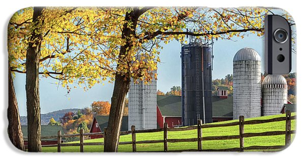 Fall In New England iPhone Cases - Afternoon Delight Square iPhone Case by Bill  Wakeley