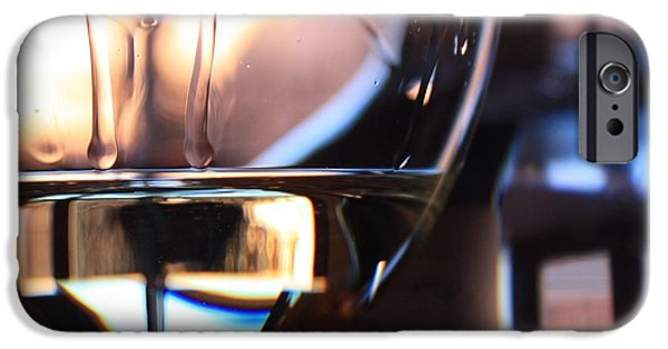 Wine Reflection Art iPhone Cases - Afternoon Glow 1 iPhone Case by Penelope Moore