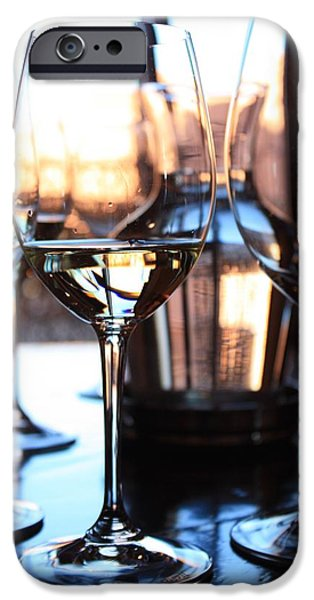 Wine Reflection Art iPhone Cases - Afternoon Glow 10 iPhone Case by Penelope Moore
