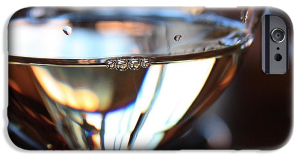 Wine Reflection Art iPhone Cases - Afternoon Glow 2 iPhone Case by Penelope Moore