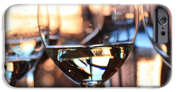 Wine Reflection Art iPhone Cases - Afternoon Glow 6 iPhone Case by Penelope Moore