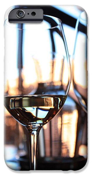 Wine Reflection Art iPhone Cases - Afternoon Glow 9 iPhone Case by Penelope Moore