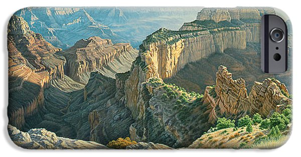 Grand Canyon iPhone Cases - Afternoon-North Rim iPhone Case by Paul Krapf