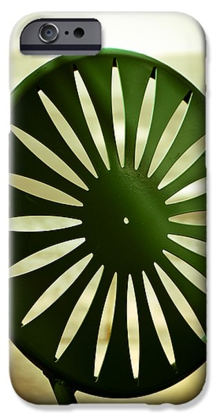 Lawn Chair iPhone Cases - Afternoon on the Terrace iPhone Case by Christi Kraft