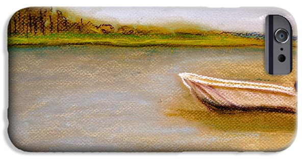 Fishing Pastels iPhone Cases - Tybee Island Afternoon on Alley 3 iPhone Case by D Renee Wilson