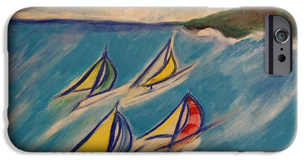 For Children Pastels iPhone Cases - Afternoon Regatta by jrr iPhone Case by First Star Art