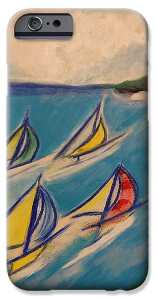 Afternoon Regatta by jrr iPhone Case by First Star Art
