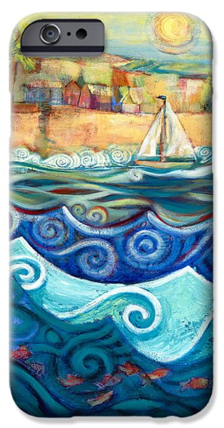 Sail Boat iPhone Cases - Afternoon Sail iPhone Case by Jen Norton