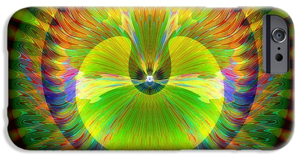 Recently Sold -  - Abstract Digital iPhone Cases - Afternoon Sunrise iPhone Case by Visual Artist  Frank Bonilla