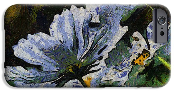 Asymmetrical iPhone Cases - Afternoon Sunshine On White Flowers 04 iPhone Case by Thomas Woolworth