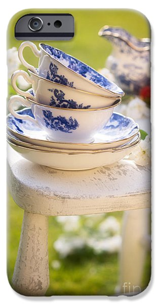 Al Fresco iPhone Cases - Afternoon Tea iPhone Case by Amanda And Christopher Elwell