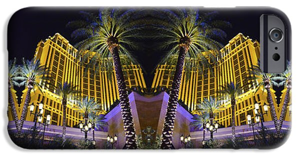 Abstract Forms iPhone Cases - Again and Again on The Strip iPhone Case by Michael Anthony