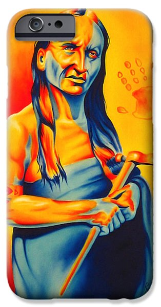 Brave Mixed Media iPhone Cases - Again? iPhone Case by Robert Martinez