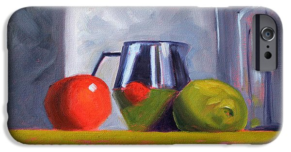 """indoor"" Still Life Paintings iPhone Cases - Against Giants iPhone Case by Nancy Merkle"